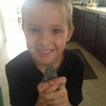 A 6 year-old client giving me a rock he found at the beach for my hot rock collection.